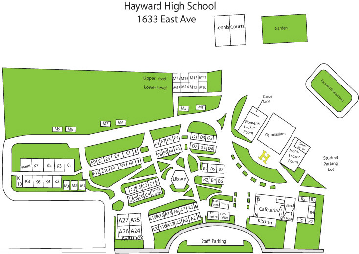 directions campus map noche de ciencias hayward